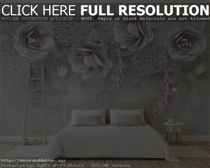 Beibehang Custom Photo Wallpaper Modern Purple 3D Flowers ~ Tapeten Modern